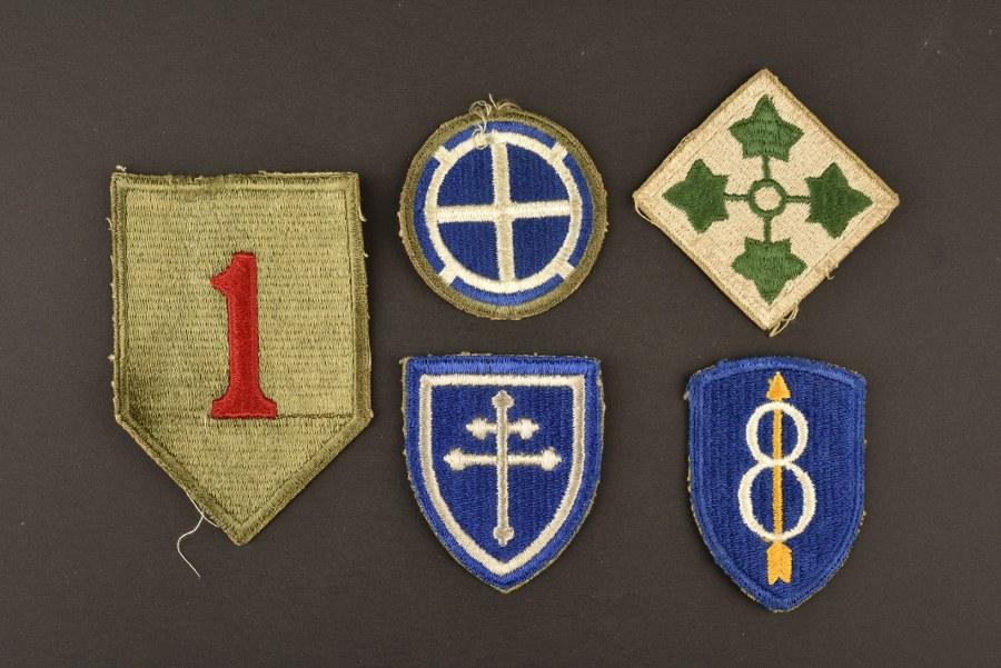 Ensemble de patch des divisions américaine en Normandie