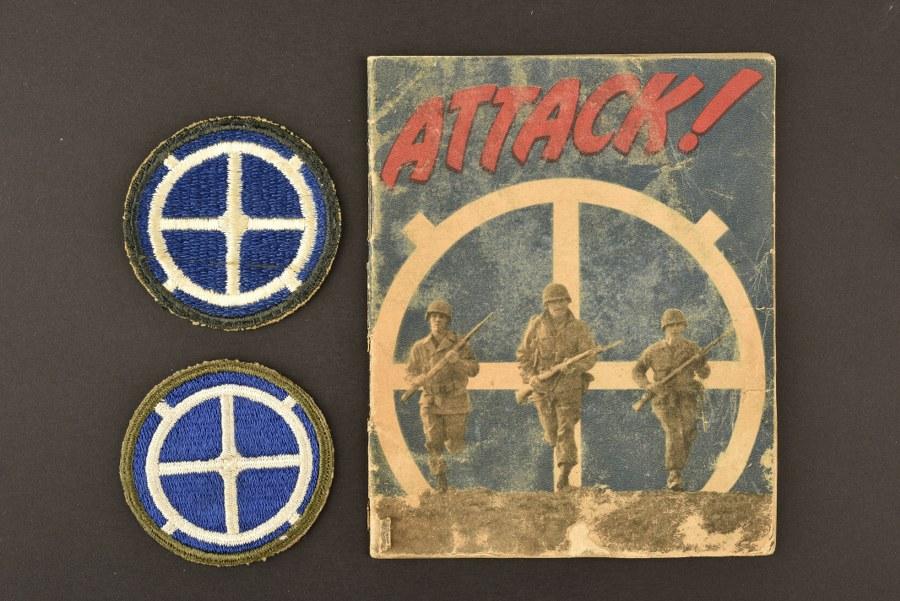Livret et insigne de la 35ème DI US