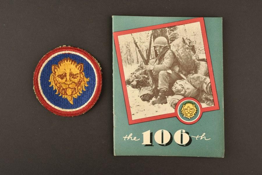 Livret et insigne de la 106ème DI US