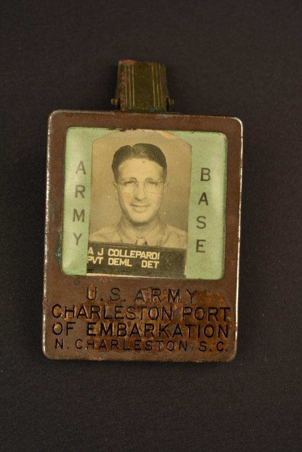 Rare badge du port d'embarcation de l'US Army à Charleston