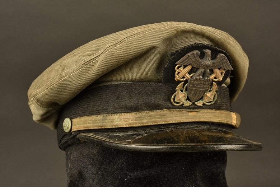 Casquette nominative d'officier US Navy