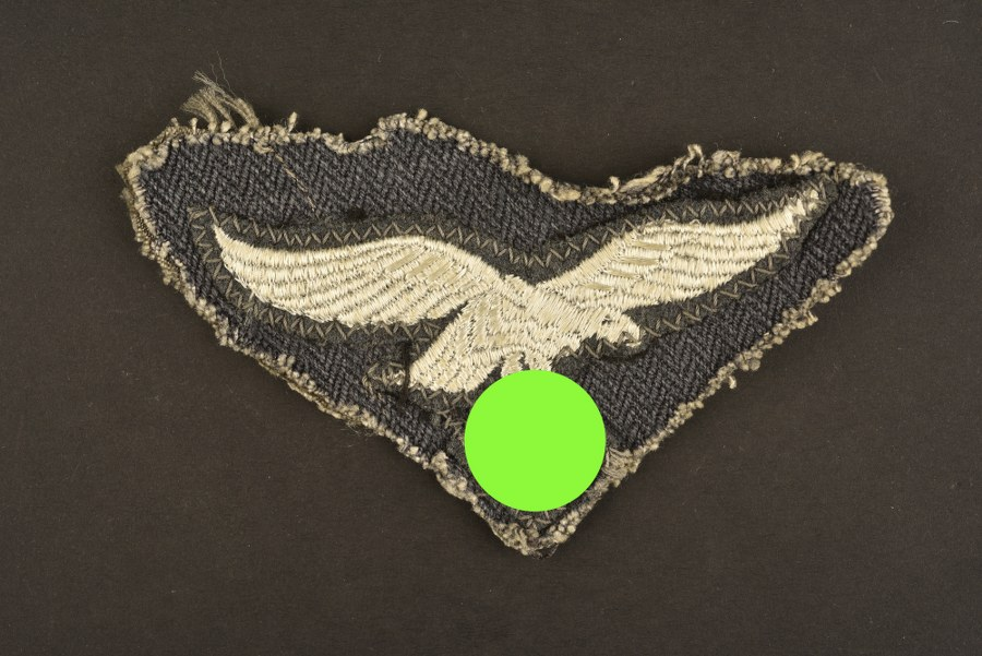 Aigle de poitrine découpé d'une veste treillis