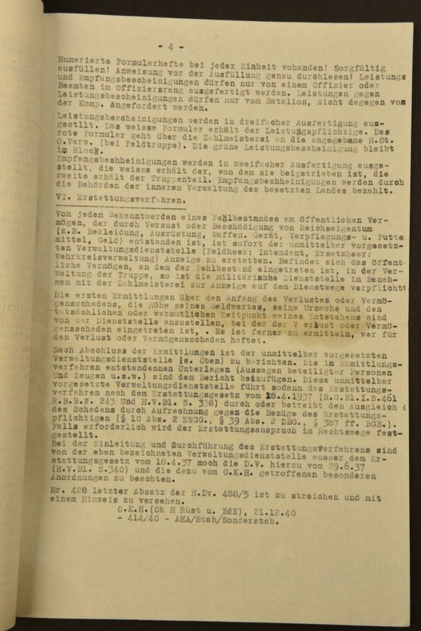 Documents du Zahlmeisterei SS AA