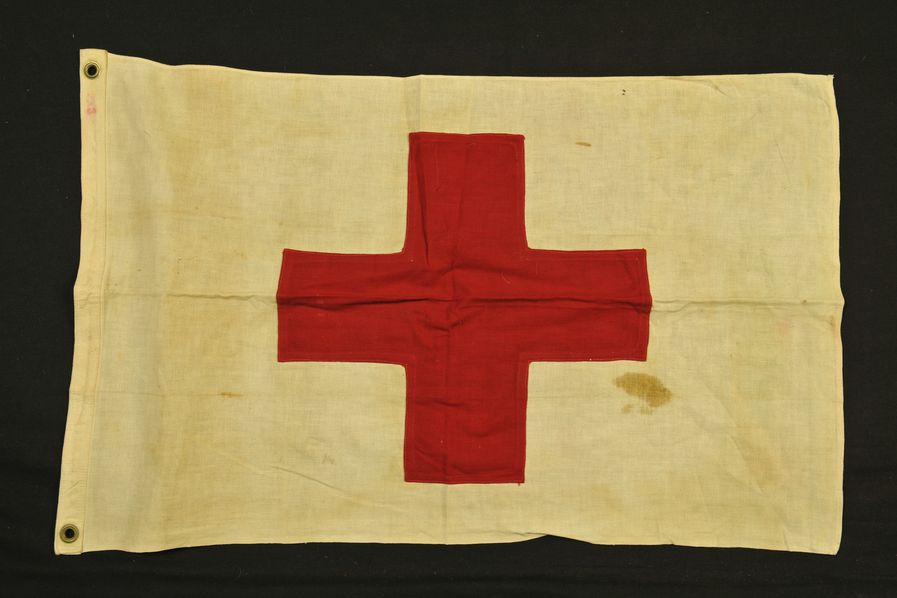 Drapeau croix rouge US