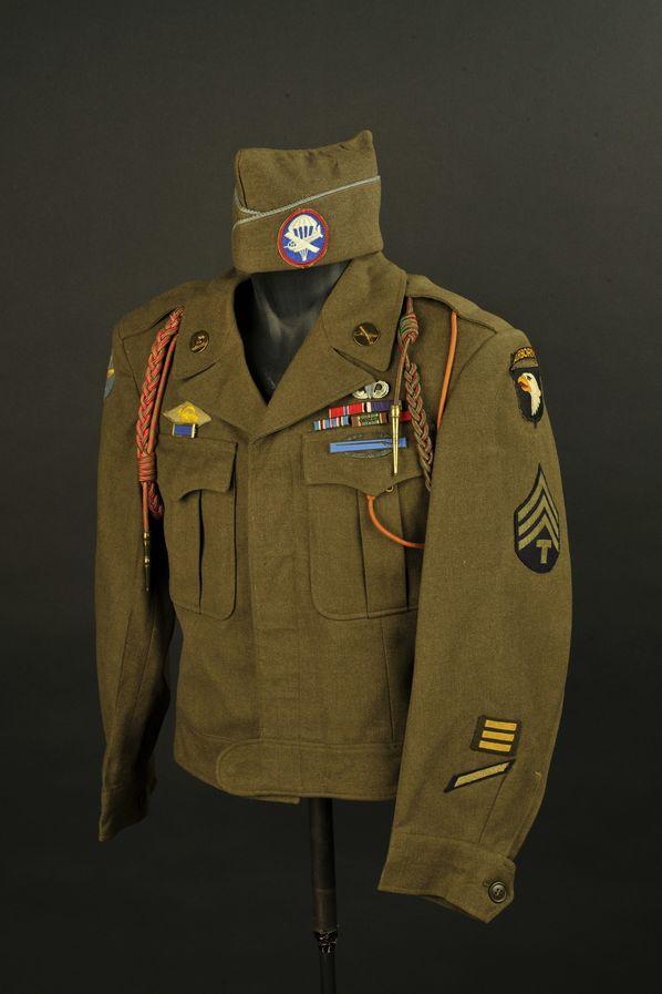 Blouson ike et calot de la 101ème Airborne/Allied Airborne