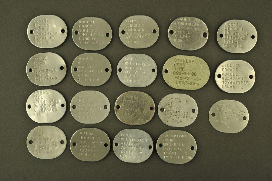 Ensemble de plaques d'identité USN