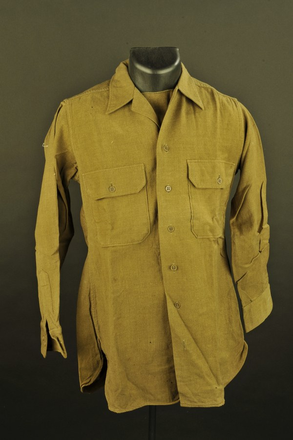 Chemise moutarde