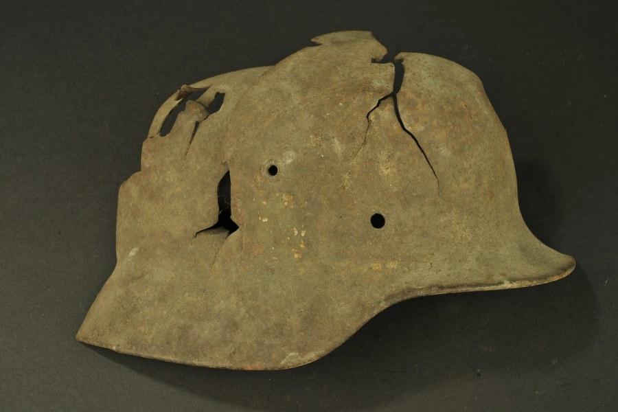 Relique de casque allemand