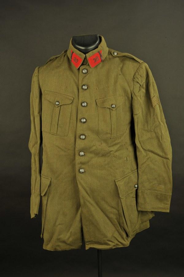 Vareuse de Lieutenant du 20ème régiment d'artillerie
