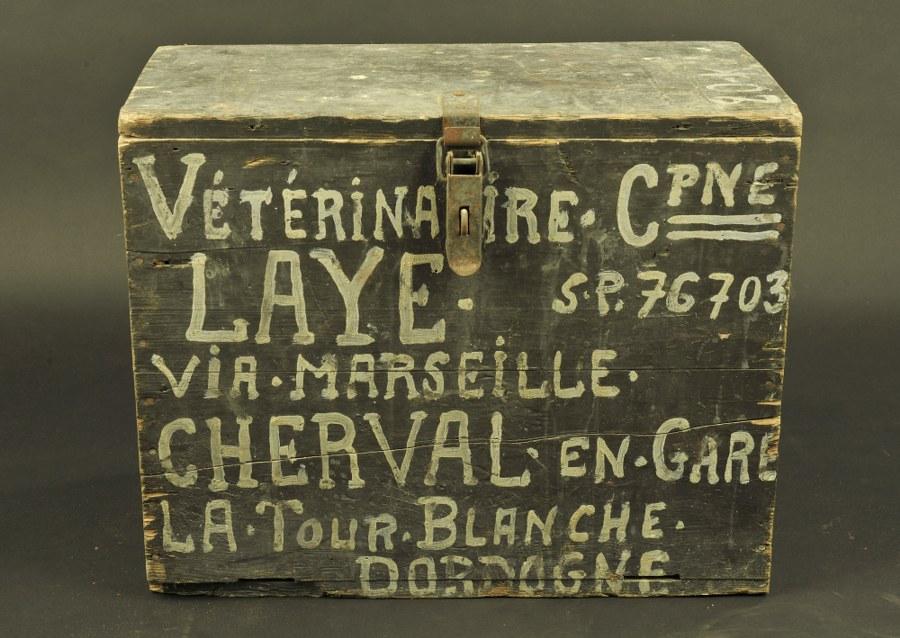 Caisse de transport du Capitaine Vétérinaire Laye