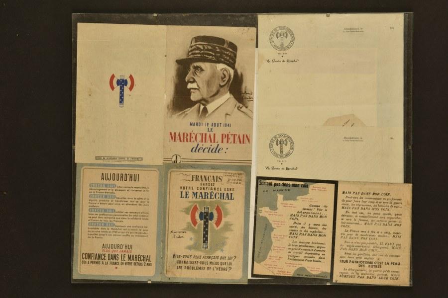 Ensemble de documents de la période de Vichy