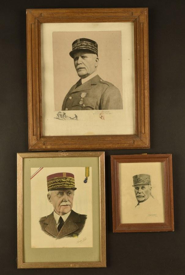 Ensemble de portraits du Maréchal Pétain