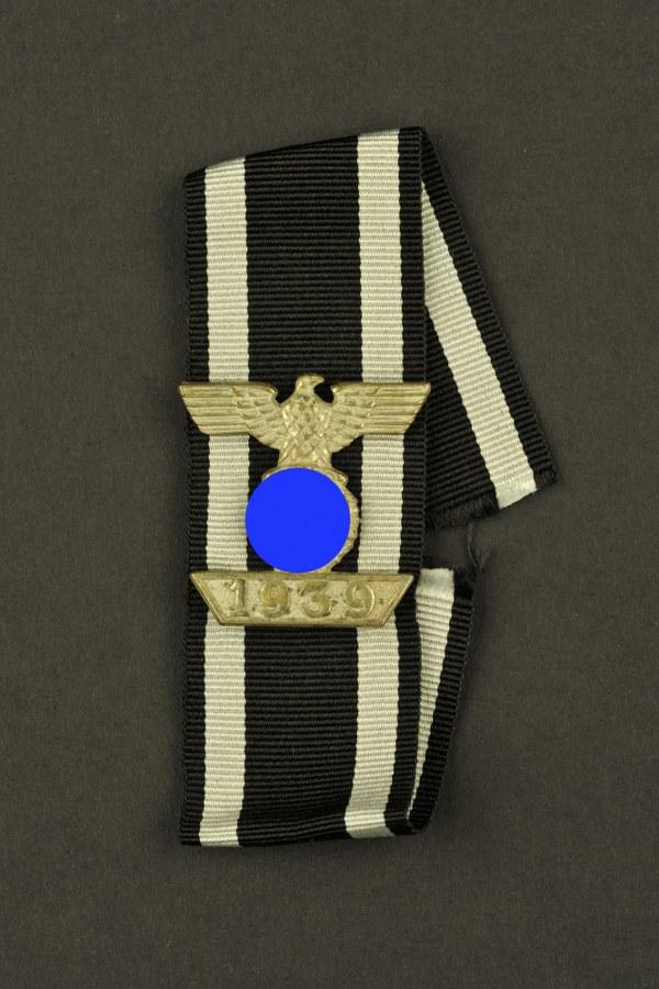Rappel de la croix de fer de 1914 avec ruban