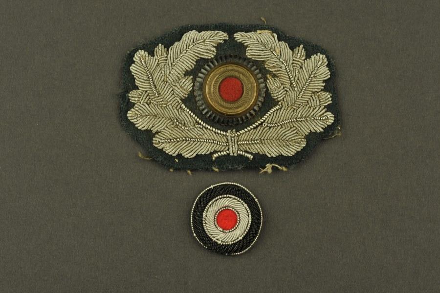 Insignes de casquette d'officier de la Heer
