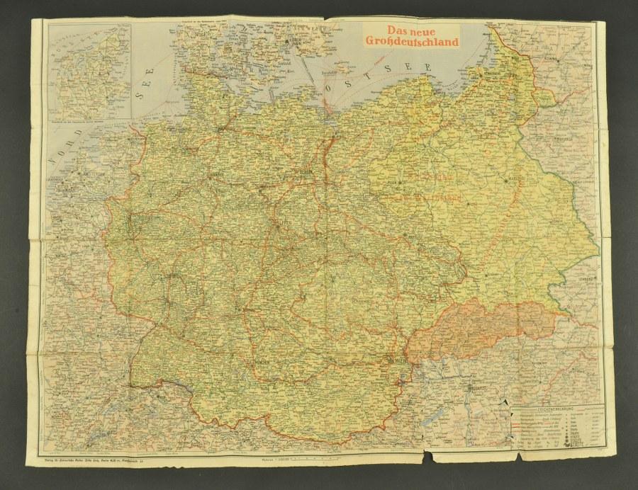 Carte allemande Das Neue Grossdeutschland