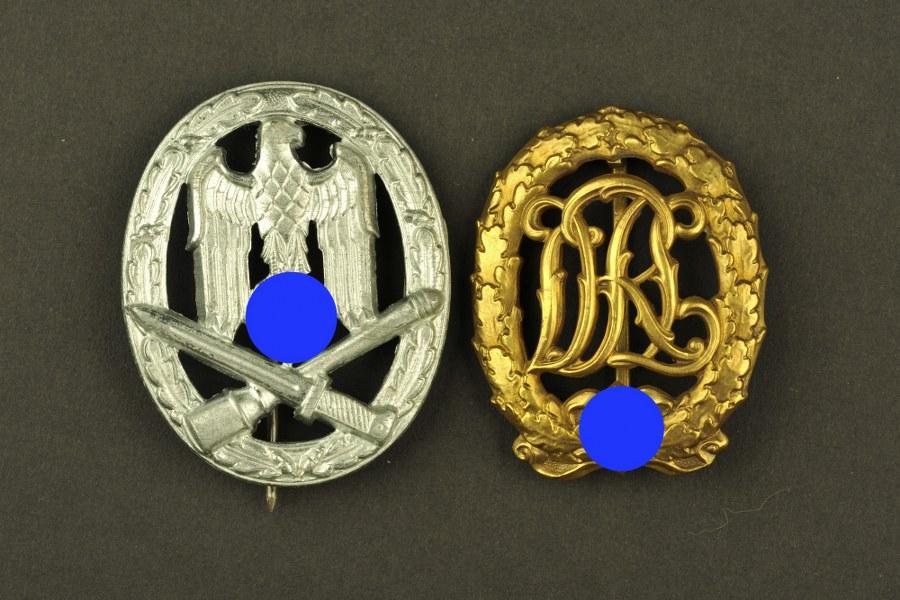 Ensemble d'insignes allemand