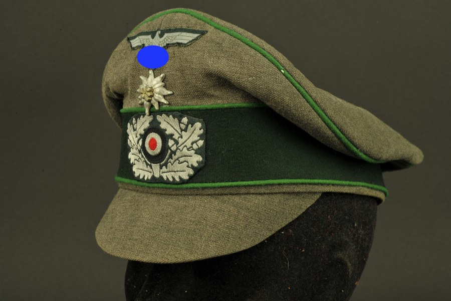Casquette Alter Art d'officier Gebirgsjäger
