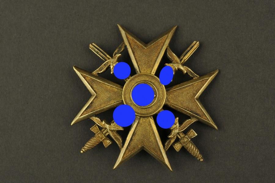 Spanienkreuz bronze avec épées.