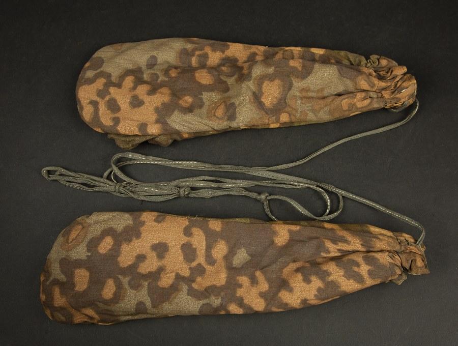 Gants camouflés réversibles de la Waffen SS