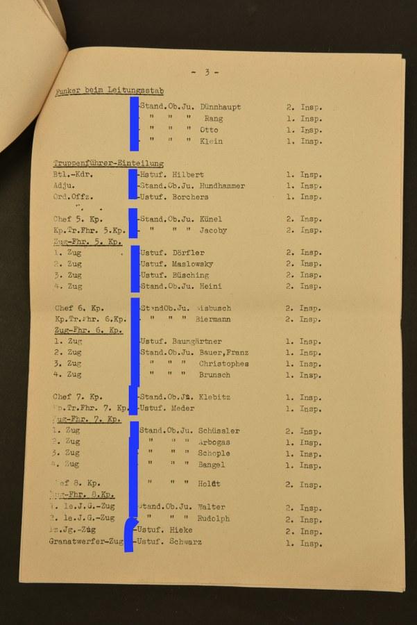 Document de la SS Panzer Grenadier Schule.