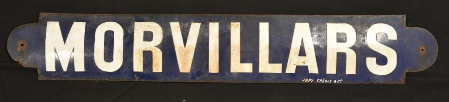 Plaque de quai de la gare de Morvillards