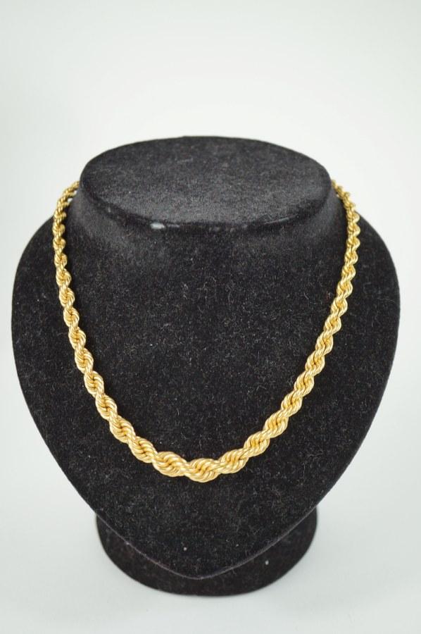 Collier en or jaune (750/°°°)