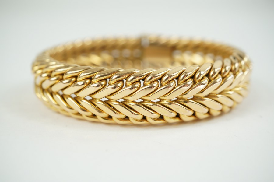 Bracelet en or jaune (750/°°°)