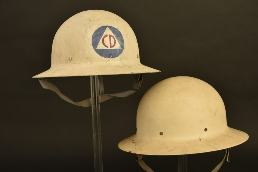 Ensemble de casque de l'US Civil Defense