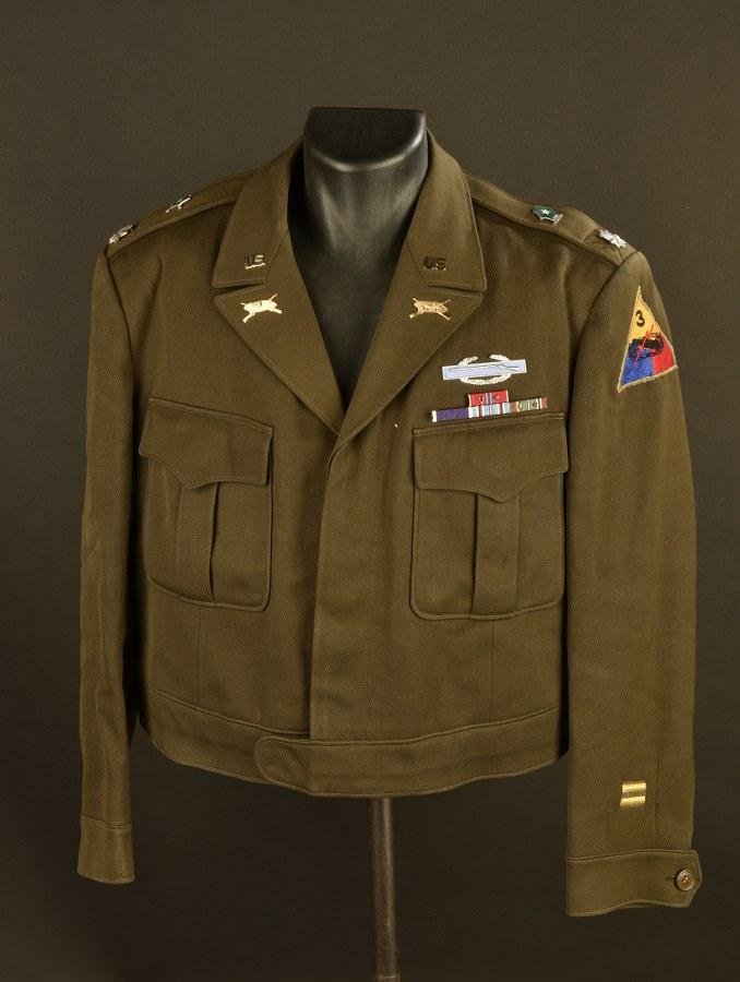 Blouson Ike de Lieutenant Colonel de la 36ème Armored Infantry Regiment de la 3ème DB US