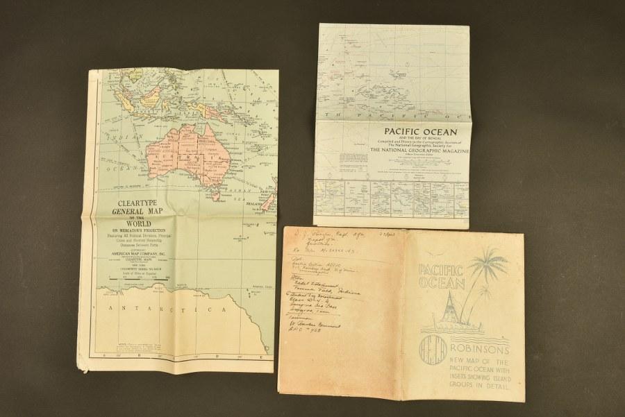 Cartes de l'océan Pacifique