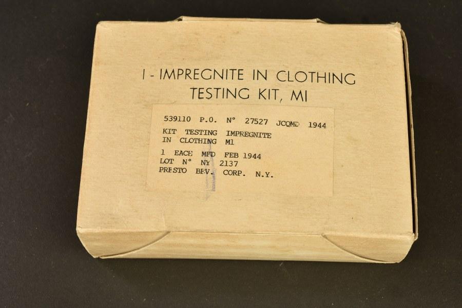 Impregnite in clothing Testing Kit M1