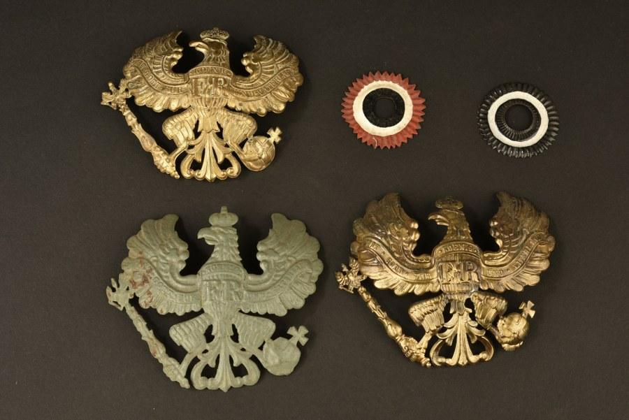 Plaques de casque à pointe prussien