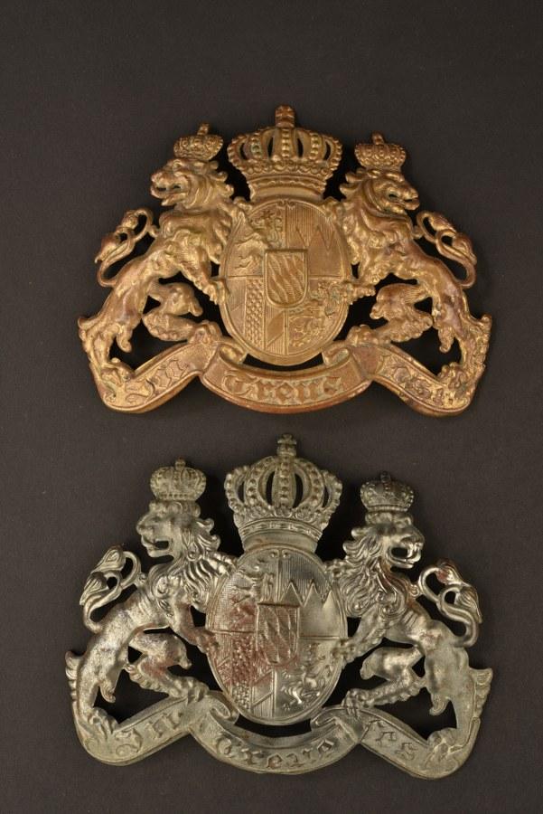 Plaques de casque à pointe bavaroises