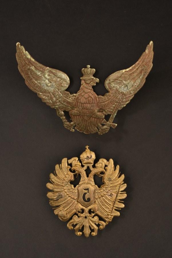 Plaque de casque à pointe Unteroffizier im Garde-Pionier ou d'un Eisenbahn-Regiment
