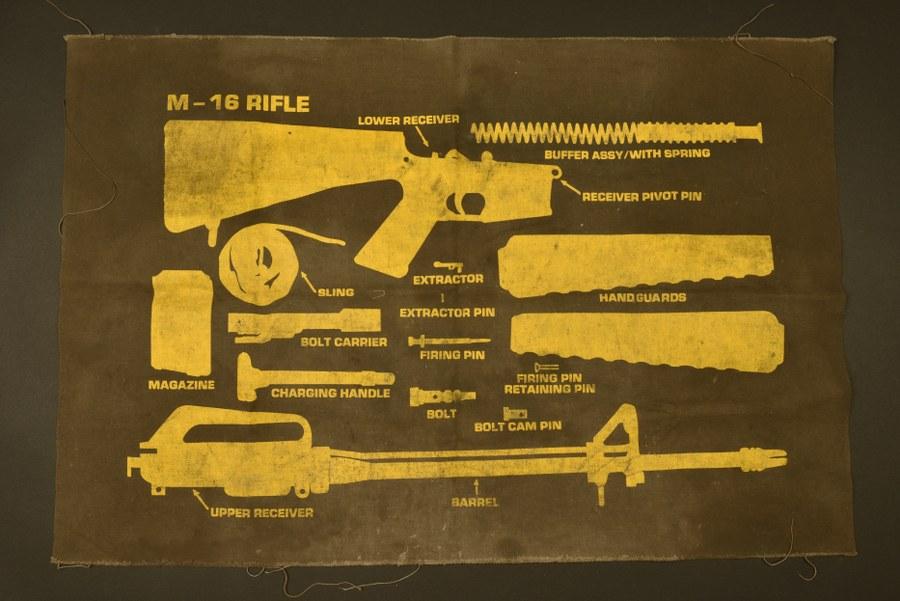 Tapis de démontage du fusil M16