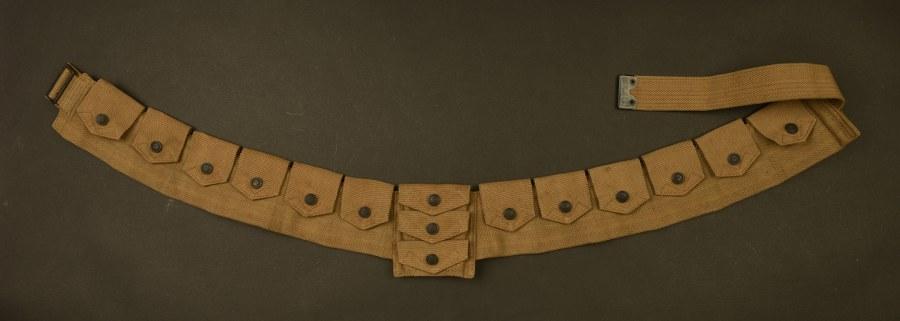Rare WWI US Army M1914 bandoleer du 306ème de Cavalerie Eagle snaps
