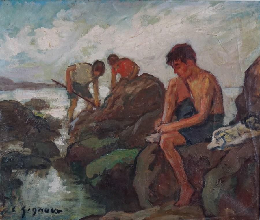 Petits pêcheurs, Noirmoutier.