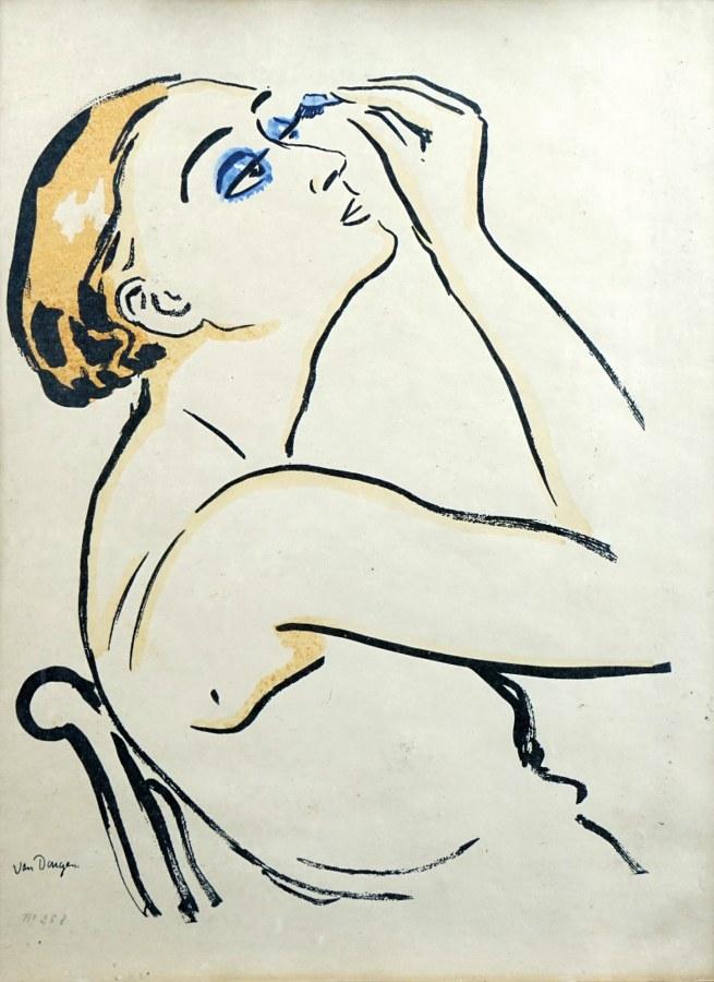 Le Rimmel (femme se maquillant).
