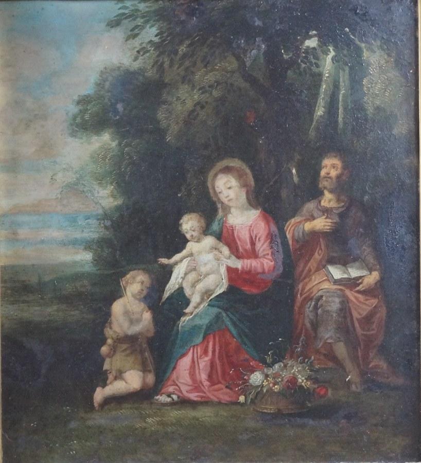 Sainte Famille et Saint Jean Baptiste.