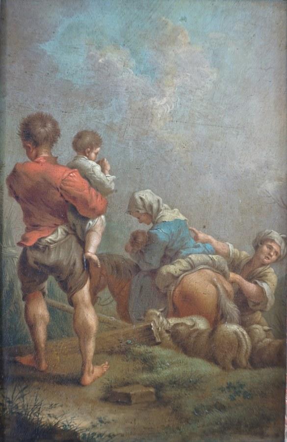 Bergère et ses enfants; La famille des bergers.
