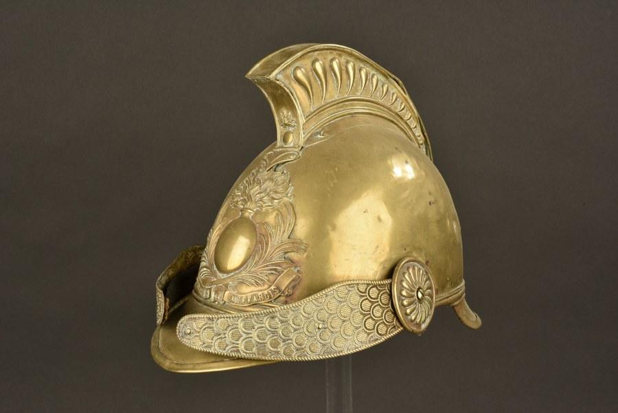 Coque de casque de pompier 1855