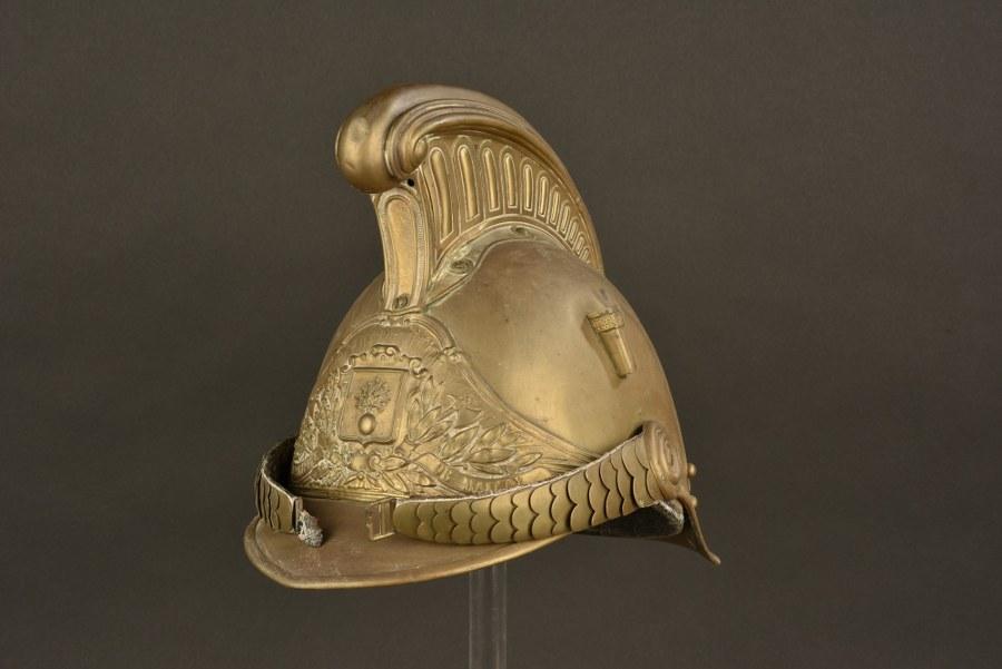 Coque de casque de pompier 1872