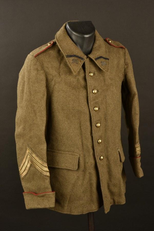 Vareuse de sous-officier du 95ème d'infanterie de Bourges