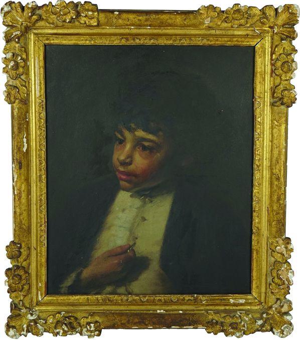 Portrait de jeune garçon.