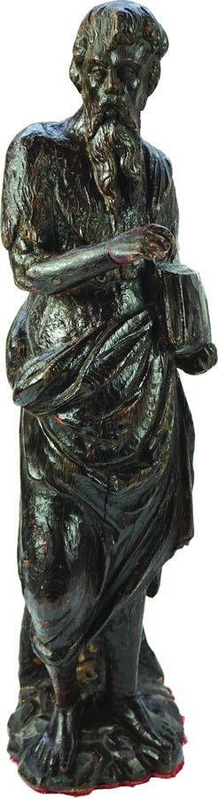 Saint Jean-Baptiste en chêne sculpté.