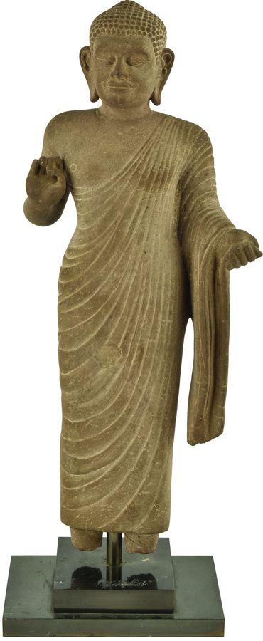 Statue de bouddha en grès.