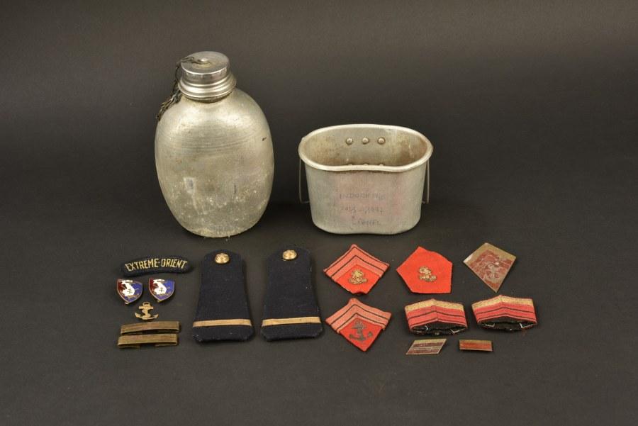 Ensemble de souvenirs d'un soldat du 1° Régiment d'artillerie coloniale
