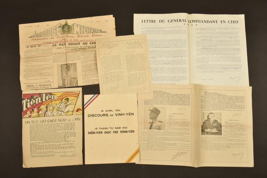 Ensemble de documents du Commandant DUCHATELLE en Indochine