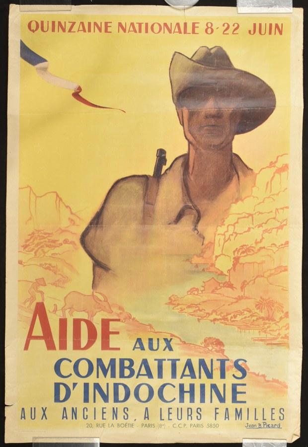 Affiche Aide aux combattants d'Indochine