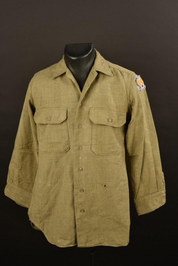Chemise moutarde USAAF France Libre
